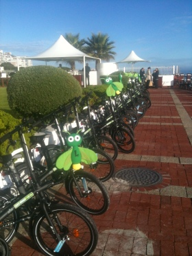 Bicycles awaiting the staff at the Radisson Blu Waterfront