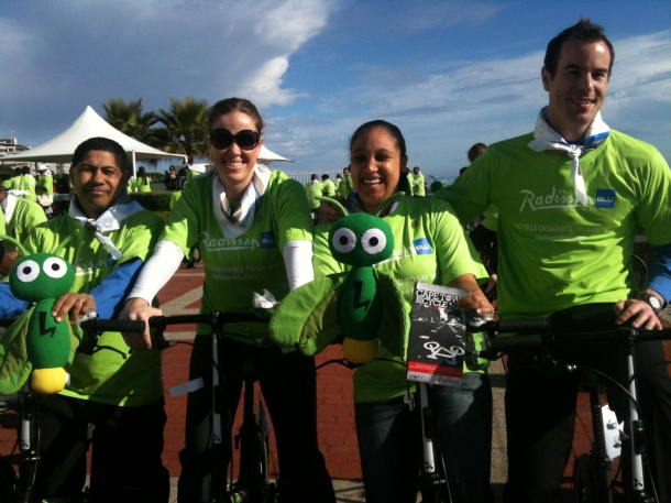 Staff with their Cape Town Bicycle Maps